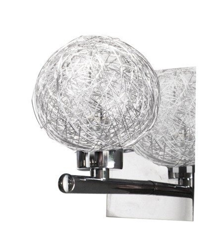 Kinkiet chromowy kula szklana w srebrnym oplocie Sphere Candellux 21-14009