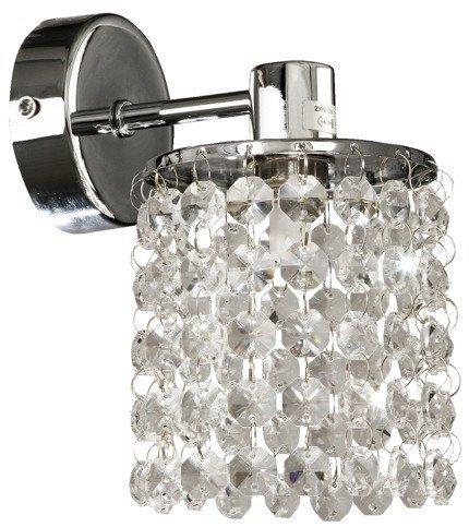 Kinkiet ścienny chromowy z kryształkami białymi Royal Candellux 21-08421
