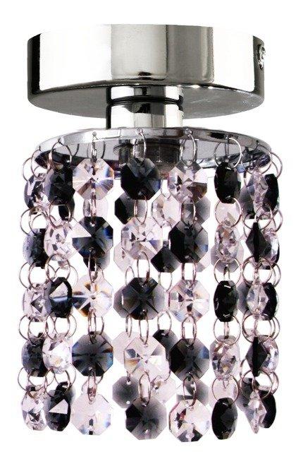 Kinkiet spot chrom + czarne kryształki 40W Royal 91-35915