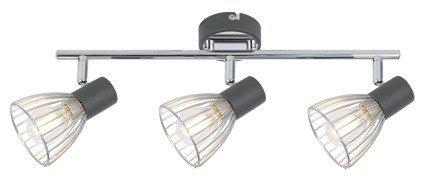 LAMPA ŚCIENNA  CANDELLUX MODO 93-61539 LISTWA  E14 CZARNY+CHROM