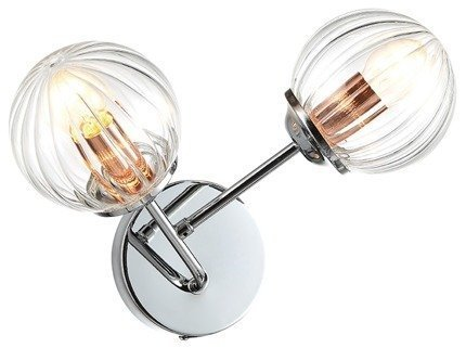 LAMPA ŚCIENNA KINKIET CANDELLUX BEST 22-67241  E14 CHROM+MIEDŹ