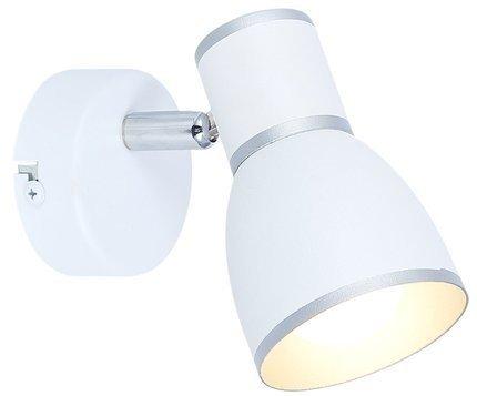 LAMPA ŚCIENNA KINKIET CANDELLUX FIDO 91-63366  E14 BIAŁY+CHROM