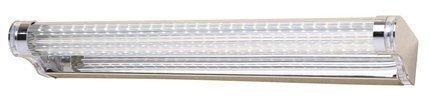 LAMPA ŚCIENNA KINKIET CANDELLUX MODERNO 20-40800  LED 40 CM STAL NIERDZEWNA POLEROWANA/AKRYL