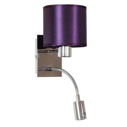 LAMPA ŚCIENNA KINKIET CANDELLUX SYLWANA 21-29348  E14 + LED Z WYŁĄCZNIKIEM CHROM / FIOLETOWY