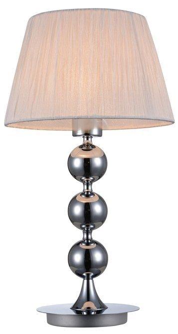 LAMPA STOŁOWA  CANDELLUX CLARA 41-21632 E27 CHROM / BIAŁY