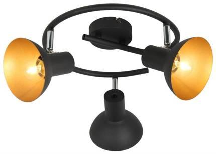 LAMPA SUFITOWA  CANDELLUX DISO 98-63434 SPIRALA  E27 CZARNY+ZLOTO
