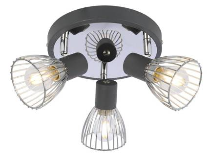 LAMPA SUFITOWA  CANDELLUX MODO 98-61546 PLAFON  E14 CZARNY+CHROM