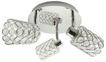 LAMPA SUFITOWA  CANDELLUX YORK 98-00125 PLAFON  G9 CHROM
