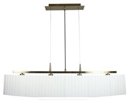 LAMPA SUFITOWA WISZĄCA CANDELLUX BERG 34-45218  E14 PATYNA ABAŻUR BIAŁY