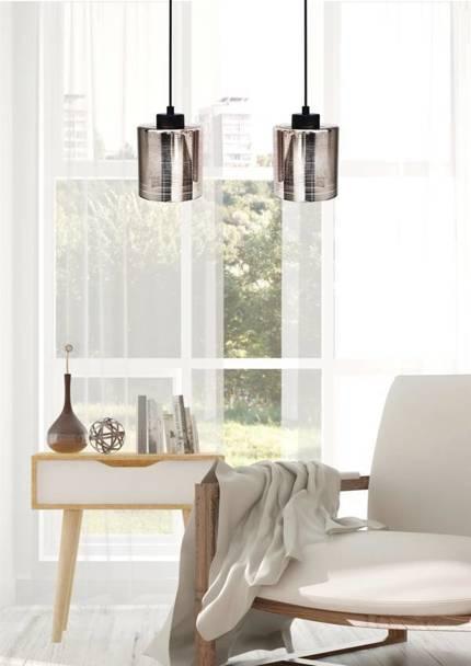 LAMPA SUFITOWA WISZĄCA CANDELLUX COX 32-53879  E27 CHROM