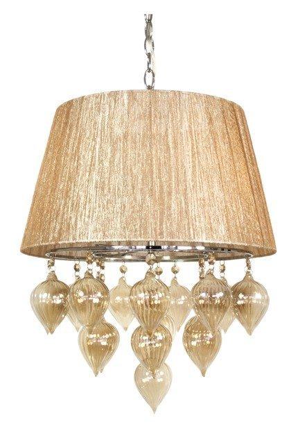LAMPA SUFITOWA WISZĄCA CANDELLUX ELISSA 33-04567  E14 SZARO BEŻOWY