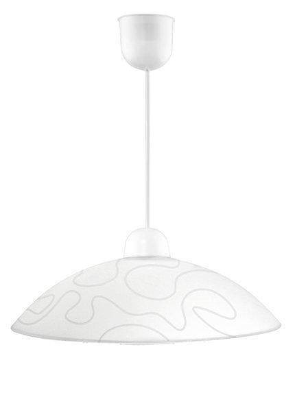 LAMPA SUFITOWA WISZĄCA CANDELLUX MALIBU 31-84067  E27 BIAŁY