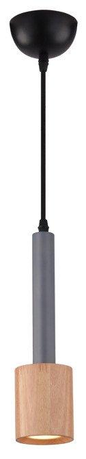 LAMPA SUFITOWA WISZĄCA CANDELLUX TANTAL 31-58744   GU10 SZARY + DREWNO
