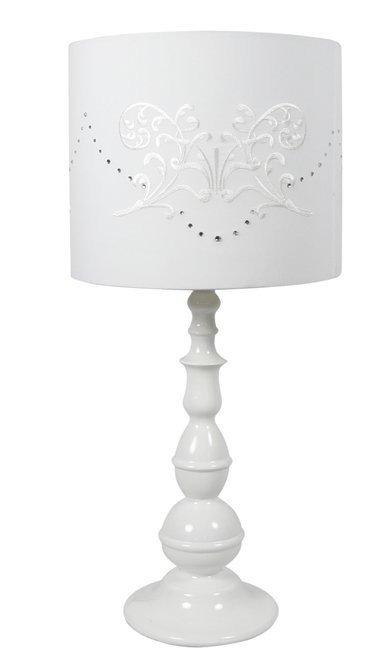 Lampa Stołowa Candellux Lans 41-53855 E27 Biała