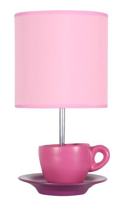 Lampa Stołowa Gabinetowa Candellux Cynka 41-34809 E27 Różowy