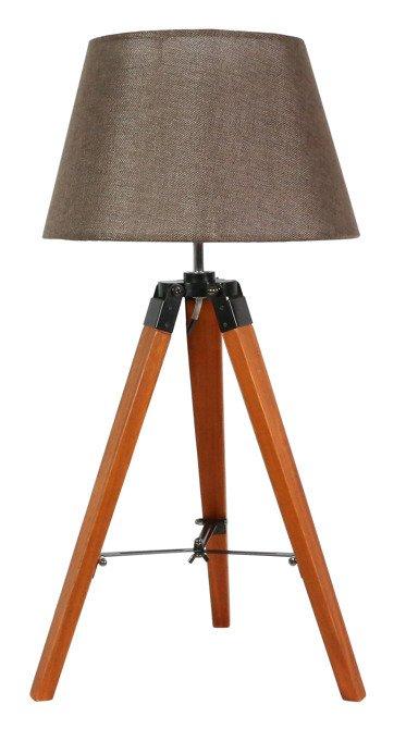 Lampa Stołowa Gabinetowa Candellux Lugano 41-31211 E27 Brązowy