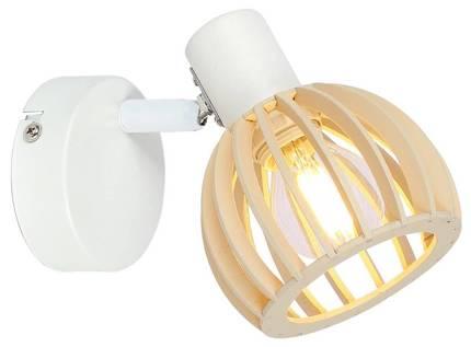 Lampa ścienna kinkiet 1X25W E14 Biały + Drewno ATARRI 91-68019
