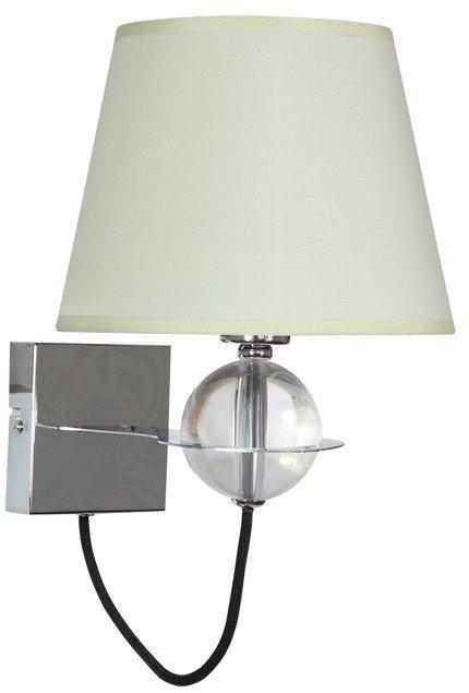 Lampa ścienna kinkiet 1X40W E14 kremowy TESORO 21-29515