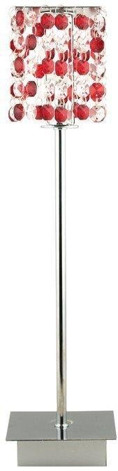 Lampa stołowa gabinetowa czerwona Classic 41-60177