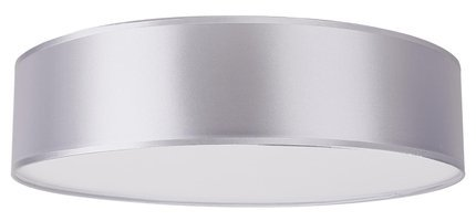 Lampa sufitowa okrągła szary błyszczący abażur satynowy 50cm Kioto Candellux 31-64707