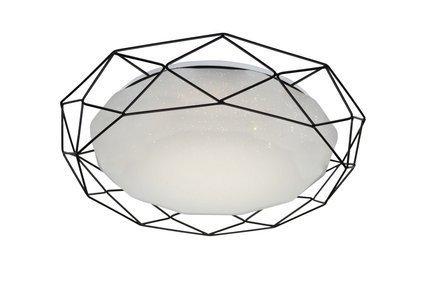 Lampa sufitowa plafon 16W LED 3000K czarny SVEN 98-66244