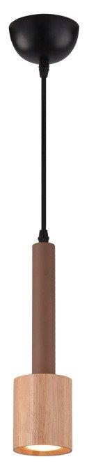 Lampa sufitowa wisząca 1X50W GU10 jasna kawa+ drewno TANTAL 31-58775