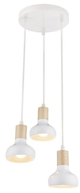 Lampa sufitowa wisząca biała na talerzu 3x40W Puerto Candellux 33-62635