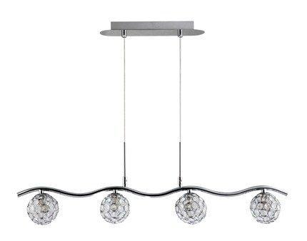 Lampa wisząca 4X40W G9 Chrom/transparent 34-85750