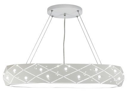 Lampa wisząca LED biała okrągła z kryształkami 36W Glance Candellux 31-64844