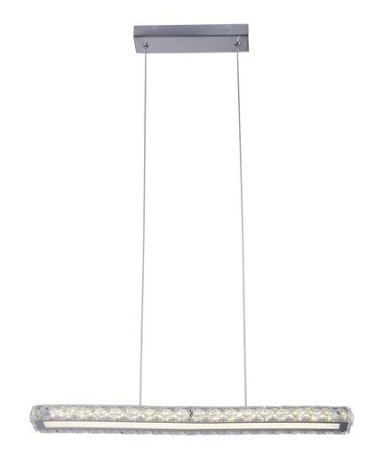 Lampa wisząca LED chromowa prostokątna 20W 4000K Symphony Candellux 31-55743