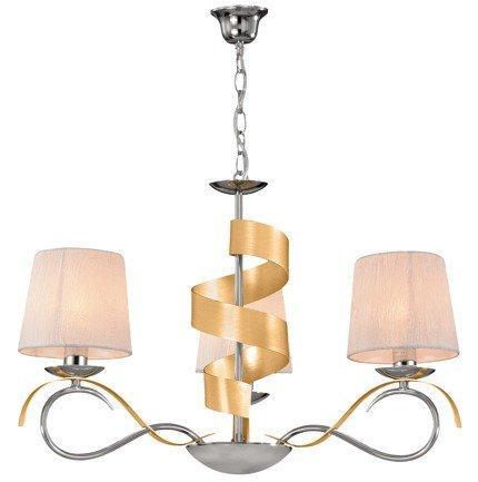 Lampa wisząca chrom/złoty żyrandol 3x40W E14 Denis Candellux 33-23421