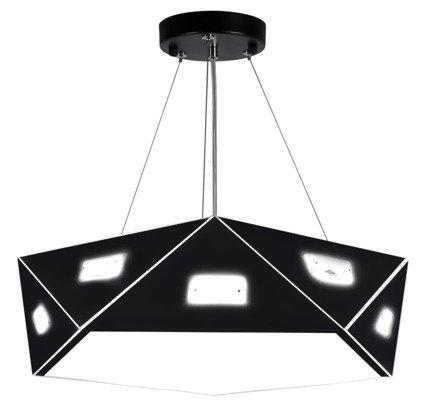 Lampa wisząca czarna pięciokątna regulowana LED 24W Nemezis Candellux 31-64882