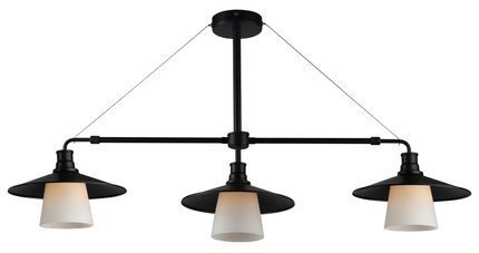 Lampa wisząca sufitowa czarna matowa 3x60W Loft Candellux 33-43115