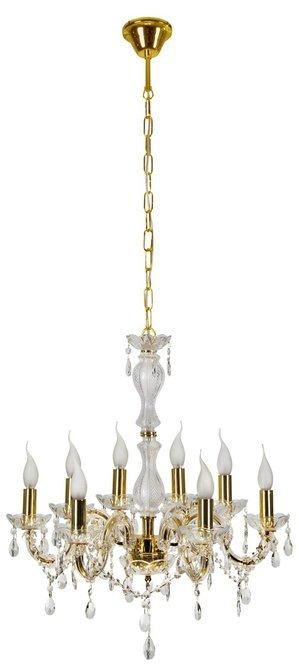 Lampa wisząca żyrandol z kryształkami złoty 8x40W Maria Teresa Candellux 38-94653