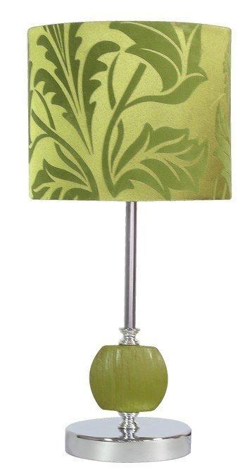 Lampka stołowa chrom/zielona Cort 41-34724