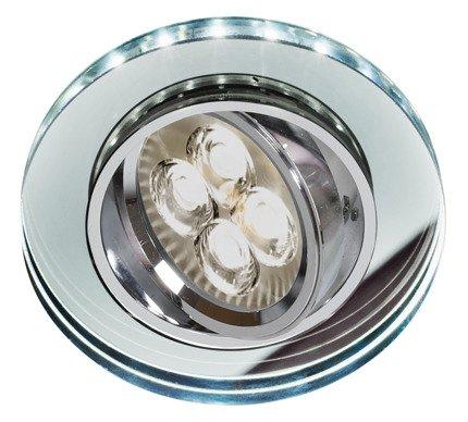 Oprawa Stropowa Oczko Candellux Ssu-23 Ch/Tr+Wh Gu10 50W+Led Smd 230V Biały 2 1W Chrom