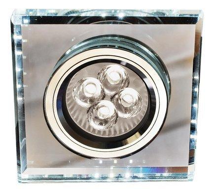 Oprawa stropowa kwadrat biały zimny LED oczko GU10 SS-22 Candellux 2226927