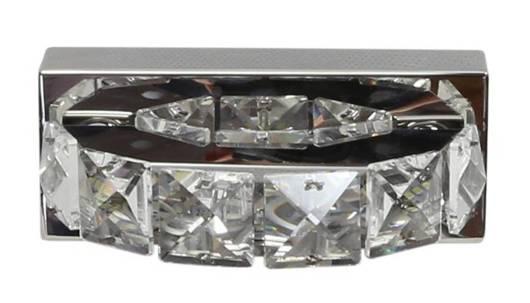 Kinkiet stal nierdzewna kryształki lampa LED Shipi Candellux 21-45256