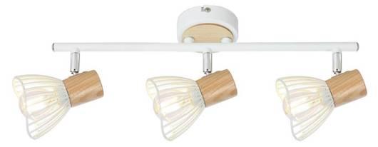 LAMPA ŚCIENNA  CANDELLUX CHILE 93-61638 LISTWA  E14 BIAŁY + DREWNO