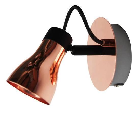 LAMPA ŚCIENNA KINKIET CANDELLUX ANGUS 91-39088  GU10 CZARNY+MIEDZIANY