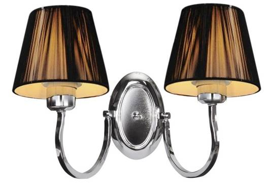 LAMPA ŚCIENNA KINKIET CANDELLUX BOSTON 22-94417  E27 CZARNY