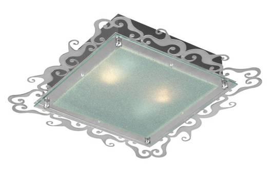 LAMPA SUFITOWA CANDELLUX WYPRZEDAŻ 10-39470 CASABLANCA PLAFON 2X60W E27 38CM SATYNA KWADRAT