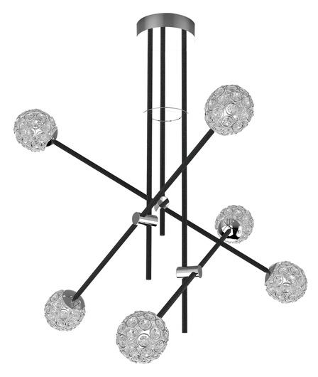 LAMPA SUFITOWA WISZĄCA CANDELLUX APETI PAKSOS G9 LED CZARNY
