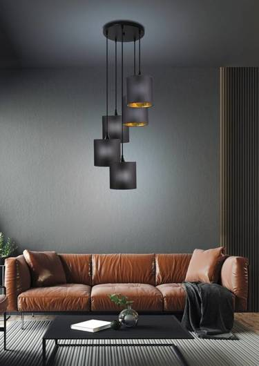 LAMPA SUFITOWA WISZĄCA CANDELLUX LONG 35-73976 CZARNY