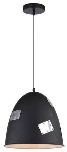 LAMPA SUFITOWA WISZĄCA CANDELLUX PATCH 31-43184   E27 CZARNY + CHROMOWANY DEKOR