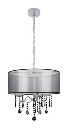 LAMPA SUFITOWA WISZĄCA CANDELLUX SOTTILE 33-73921 CZARNY/CHROMOWY