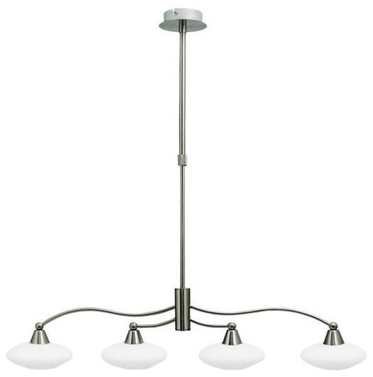 Lampa Sufitowa Wisząca Candellux Elisa 34-05994 G9 Satyna-Nikiel+Białe Szkło Promocja