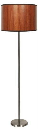 Lampa podłogowa satynowa abażur z fakturą dębu Timber Candellux 51-93304