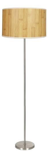 Lampa podłogowa satynowa abażur z fakturą sosny Timber Candellux 51-56705