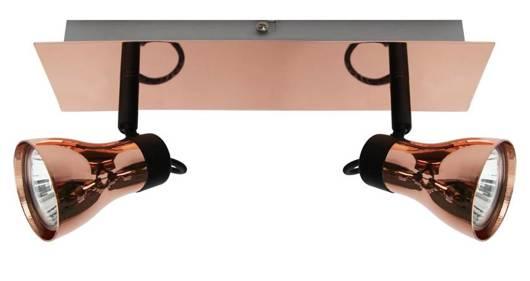 Lampa ścienna listwa 2X50W GU10 czarny + miedziany ANGUS 92-39095